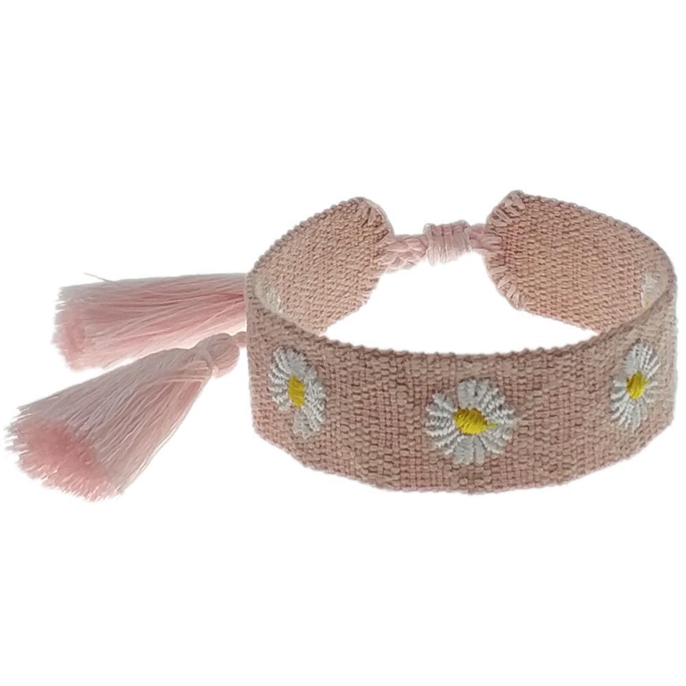 2020 новый маргаритки рисунок вышивки сплетенный браслет Марка дизайнер ювелирных изделий сплетенные дружба браслет подруга подруга любовь подарок Free Шипп