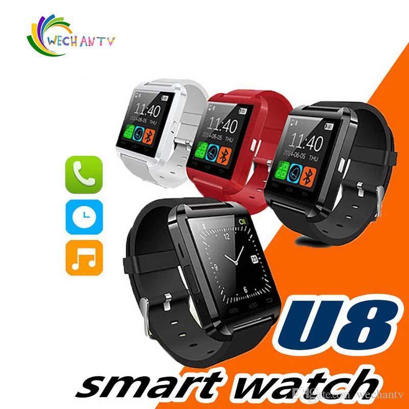SmartWatch U8 Bluetooth U8 ساعة ذكية ل IOS IPhone IPhone 4 5S 6 Samsung S4 Note 3 HTC Android Windows Ios Phone Smart Band