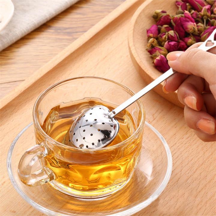 Coração chá Shaped infusor malha bola inoxidável Coador de Herbal Locking Tea Infuser Colher filtro colher coador Steeper frete grátis