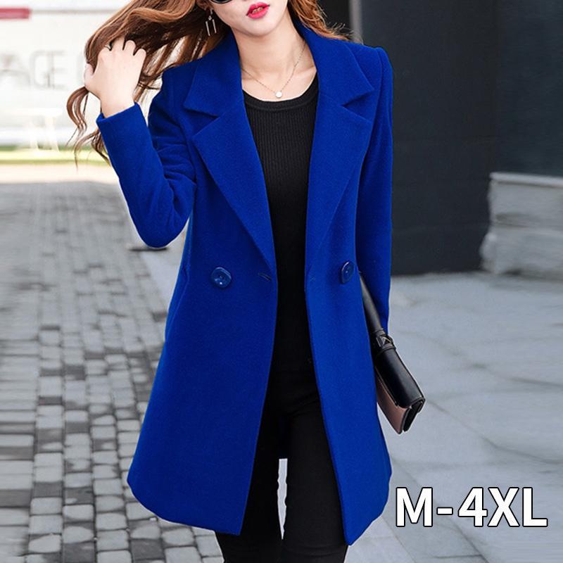 النساء الكوريات المعطفات الصوفية ... ... النساء ... ... المعاطفالأزرقالشتوية ... ...