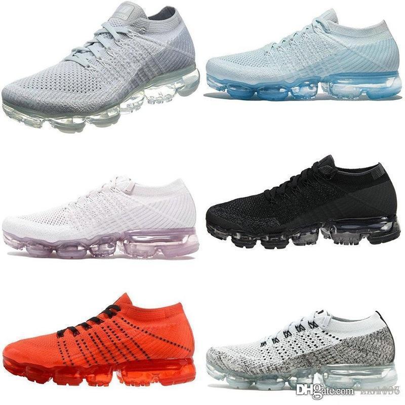 2018 zapatos de la zapatilla de deporte de los hombres de las mujeres de moda de calzado atlético deporte Maxes Corss Senderismo Footing Paseos 36-45