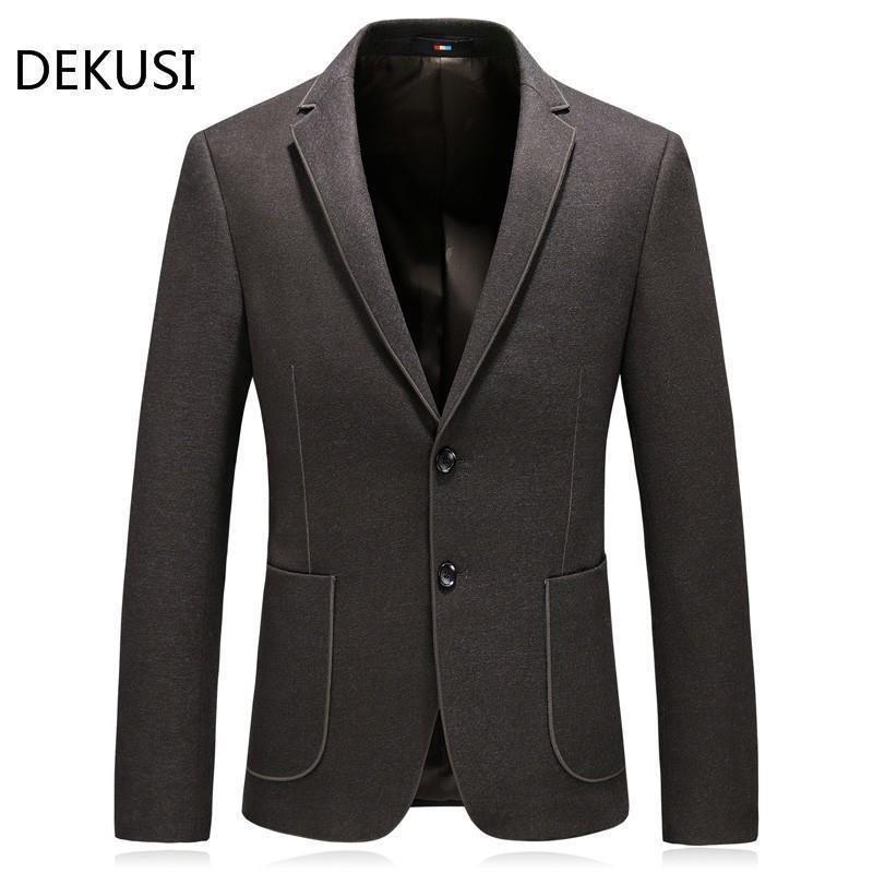 Dekusi Suit New Pattern Business Affairs Leisure Casual Loose Coat Thickening Men Clothing Blazer Hombre