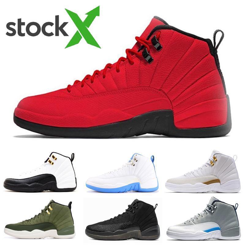 ETUI nouvelles chaussures de qualité supérieure 12s de basket-ball de sport pour hommes hiberné noir WNTR Gym rouge jeu grippe GAMMA BLEU hommes Chaussures de sport