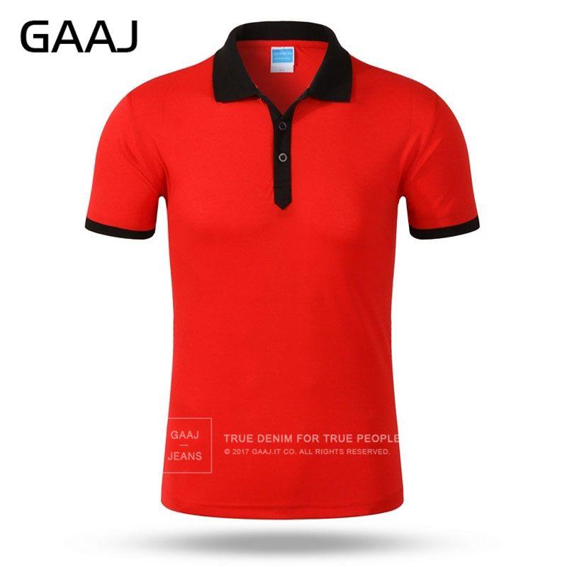 GAAJ 브랜드 핫 판매 10 개 색상 레드 퍼플 남성 폴로 셔츠 브랜드 슬림핏 캐주얼 솔리드 셔츠 의류 짧은 소매