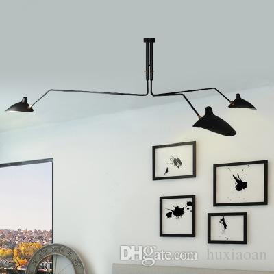 Nordic Retro Serge Mouille Lâmpadas Teto Industrial Deco Simples LED Quarto Luminária Luminária Luminaire Lamparas Lustre Lustre
