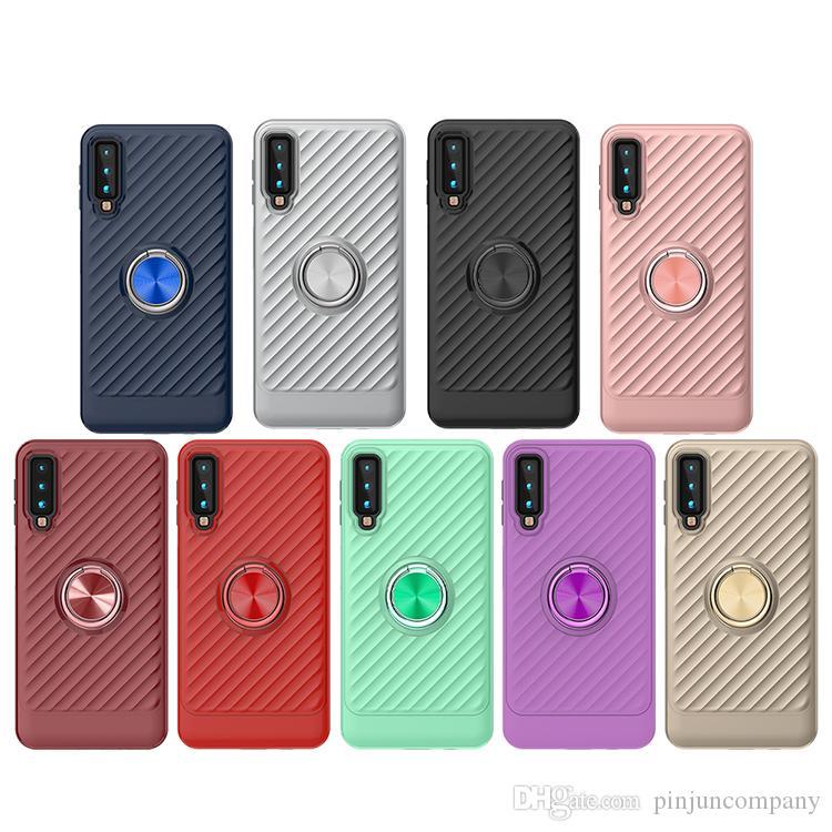 Для Samsung Galaxy A750 для LG stylo 4 case 360 Вращающееся Кольцо Автомобильный Держатель Чехол для Мобильного Телефона Аксессуары для Мобильных Телефонов Shell Cover