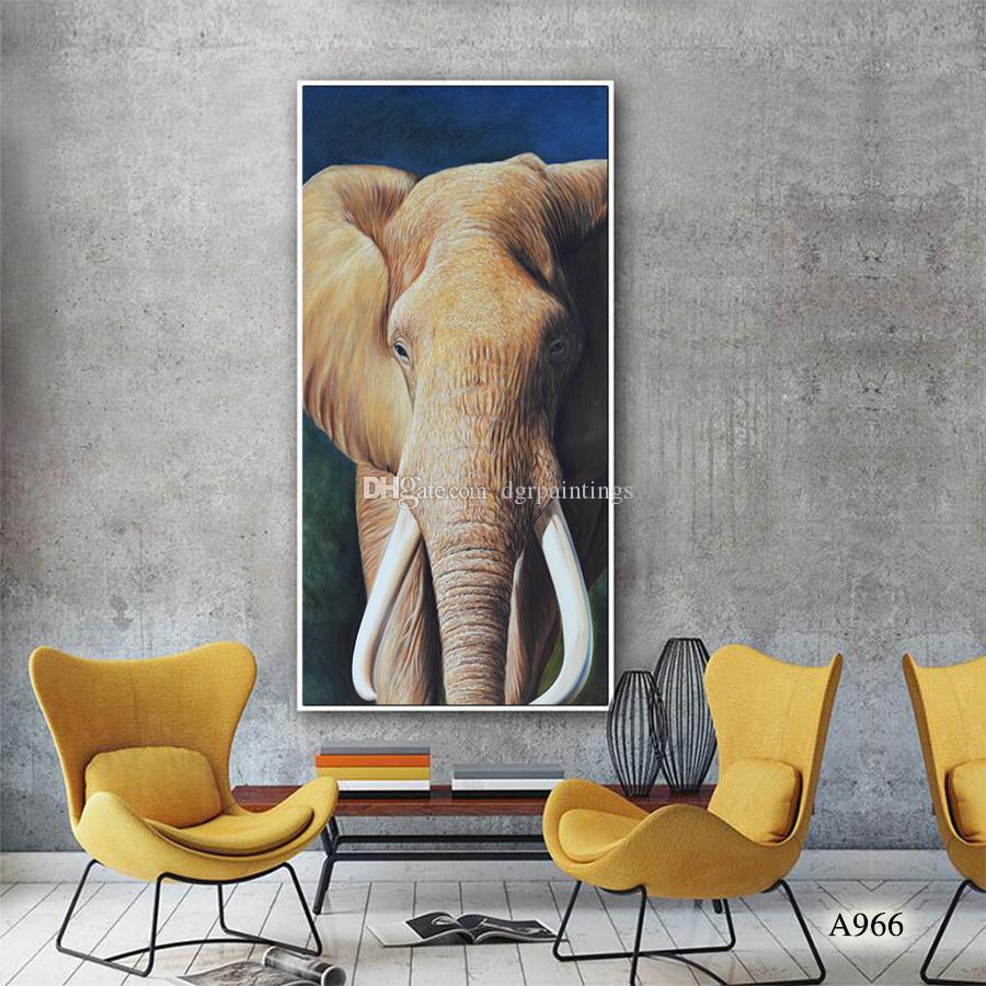 De haute qualité 100% peint à la main moderne décorative Peinture à l'huile sur toile de peinture Éléphant Accueil décorations Art A966
