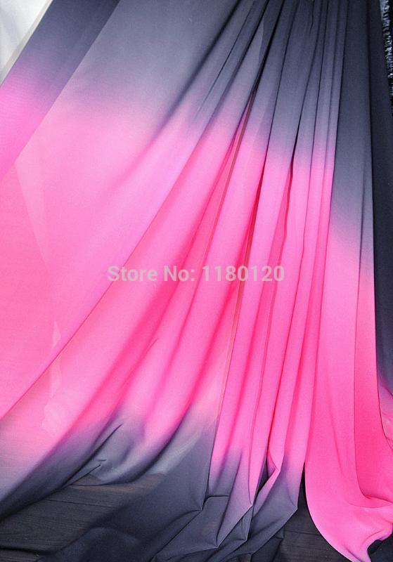 stage show top grade chiffon tissue evening dress shade shiny chiffon fabric material