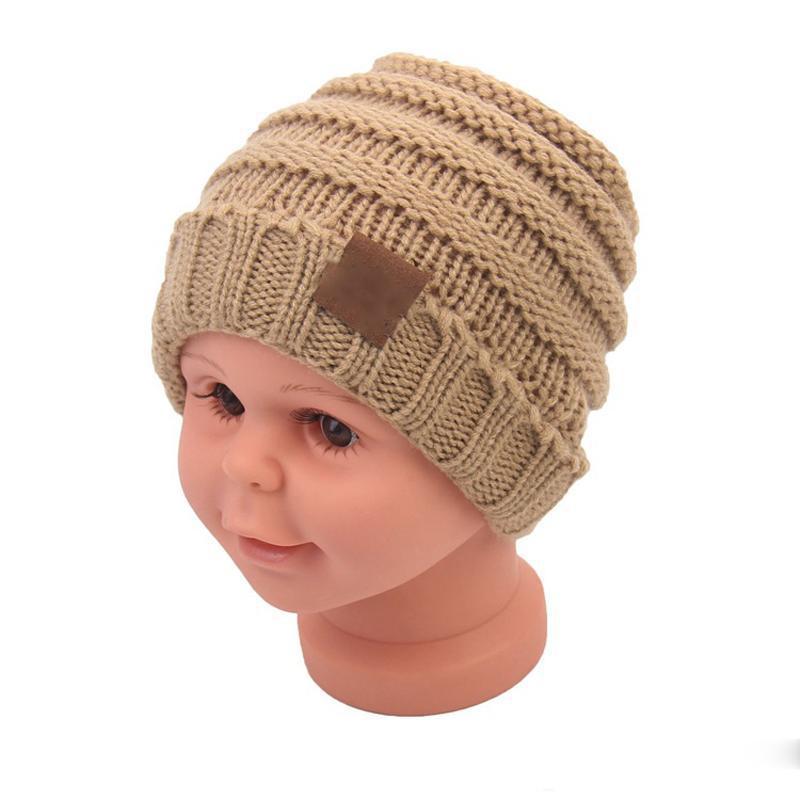 Fashion-bambino Cappelli invernali Trendy Beanie Crochet Moda Neonato bambini di lana berretti di maglia caldi tappi Cappello Outdoor
