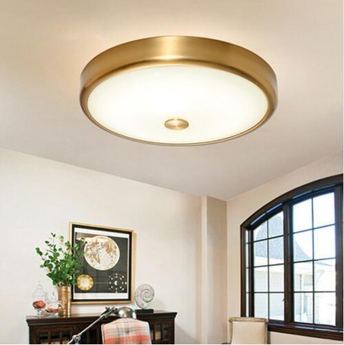 골드 라운드 LED 천장 조명 거실 침실 조명 유리 철 현대 램프 침실 식당 통로 복도