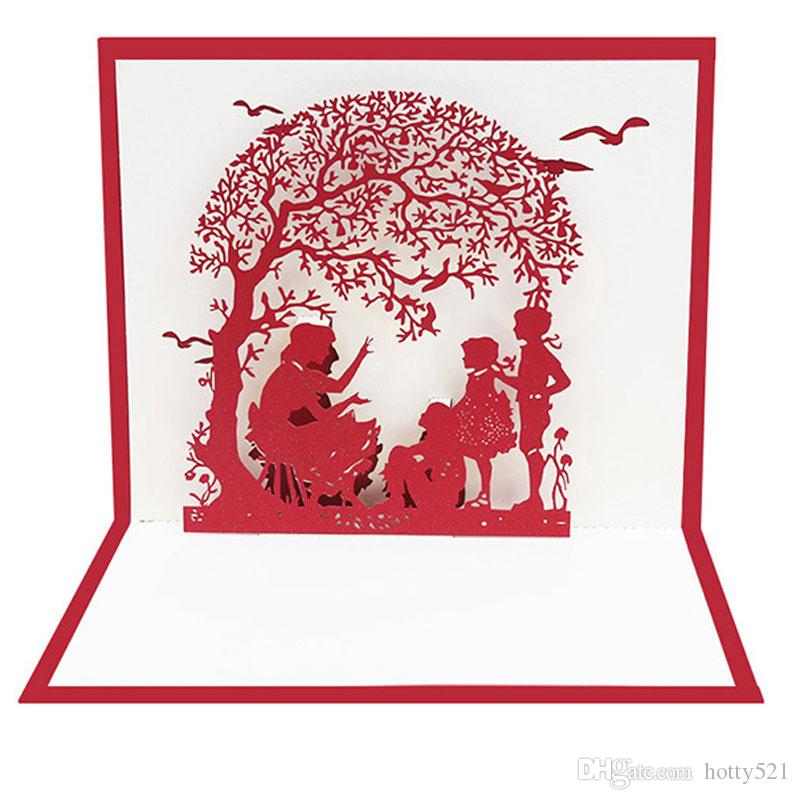 Exquisite Handmade 3D Pop Up Greeting Cards Thank You Cards for Mom Anniversary Teachers Mother Day Gifts Supplies