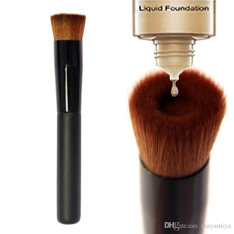 De alta calidad, Grande, Plano, Profesional, Perfeccionamiento, Cepillo Facial, Líquido, Multiusos, Base, Pincel, Premium, Maquillaje Facial, Cepillo, Libre de DHL