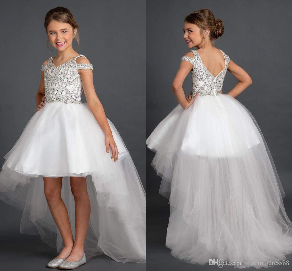 GIRLS KIDS SPARKLY IVORY SATIN BRIDESMAID WEDDING FLOWER GIRL PARTY DRESS SHOES