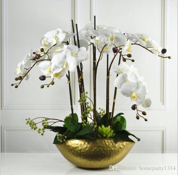 خمر الذهبي وعاء الثمينة المركزية موائد العرسة عاء النبات زهرة زهرية فندق المنزل العرض تنسيق الزهور هدية الحرف وعاء جرة
