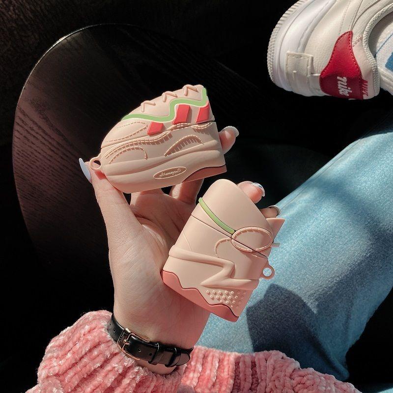 سماعة حالات للairpods الموالية حالة الأحذية سيليكون غطاء لairpods التفاح 2 1 فرض رسوم حماية مربع الحال بالنسبة لغطاء لينة القرون الهواء مضيئة