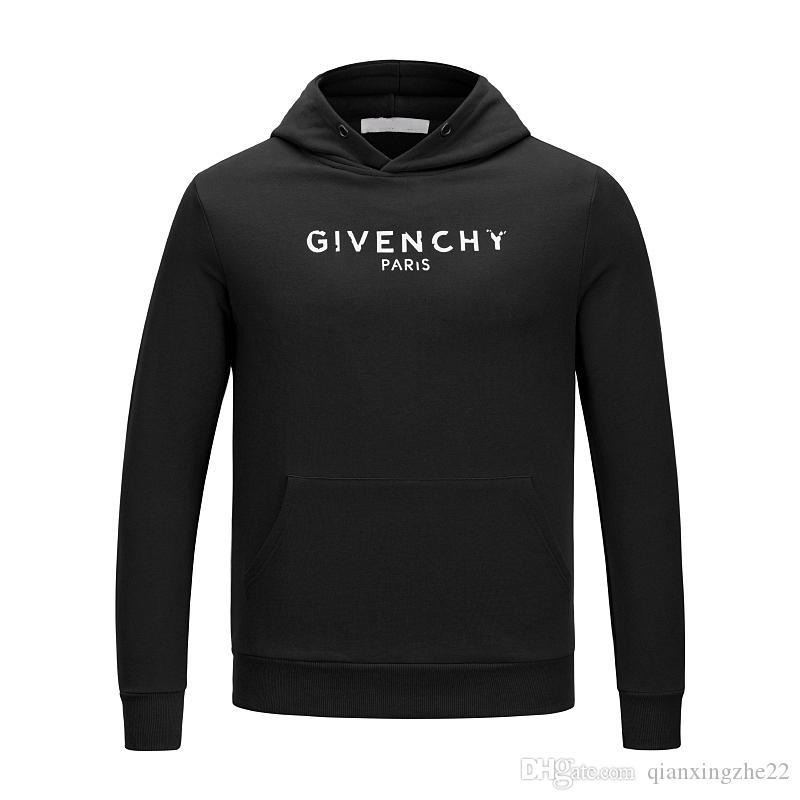 Branco Marca hoodies 2019 Homens Hoodie Sweatershirt camisola Mens Hoodies Luxo Movimentos roupas finas Manga comprida Juventude Streetwear