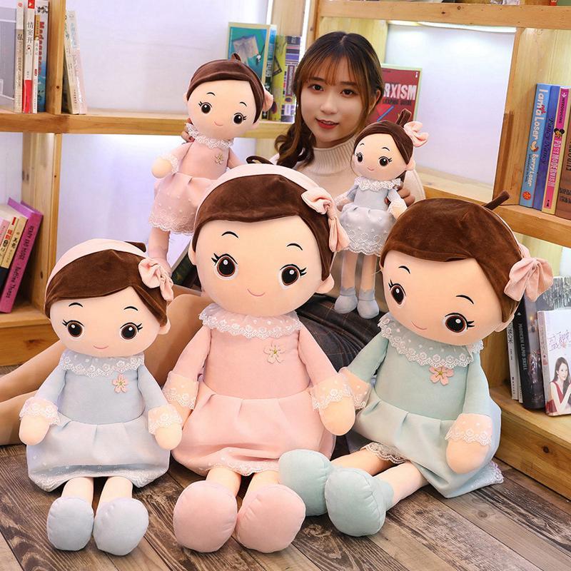 Hot Lovely 1PC 40cm-90CM Plush Toys Princess Girls Doll Soft Flower Skirt Spring Cute Children Toy Christmas Gift Toys for Girls Y200703