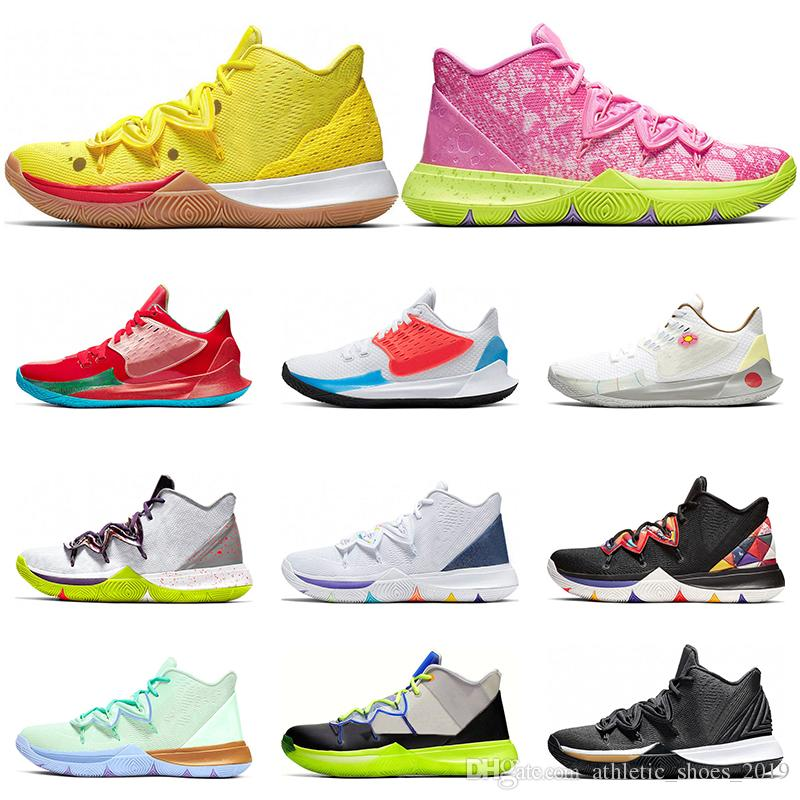 Nike Kyrie 5 basket-ball Hommes multi Noir Blanc Couleur métallique or FRIENDS Have A Day CNY Mamba sneakers sports Mentality taille 7-12
