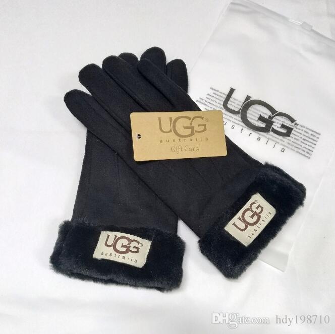 Guanti di disegno delle donne per l'inverno e l'autunno Cashmere Guanti Guanti con bella sfera della pelliccia all'aperto Sport invernali caldi guanti G5378