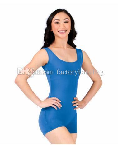 Women Tank Shorty Gymnastics Biketards Girls Ballet Dance Tights Leotards Spandex Lycra Short Unitard Adult Dance Costumes