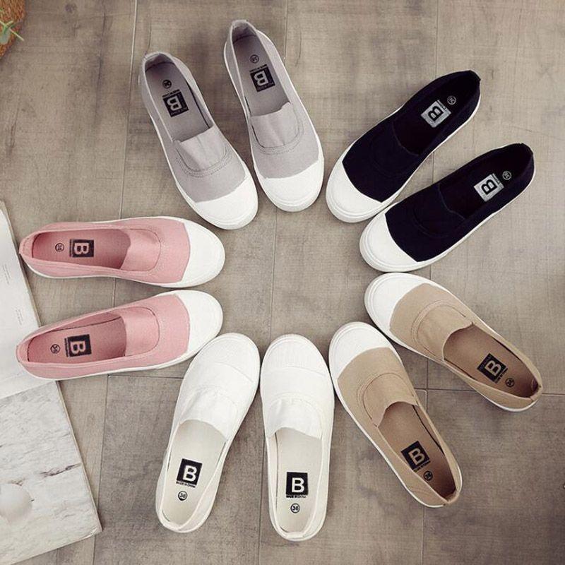 Las mujeres baratas informal zapatilla de deporte gris claro Rosa Negro Blanco de Split manera de las mujeres de tela al aire libre tamaño de los zapatos 36-39