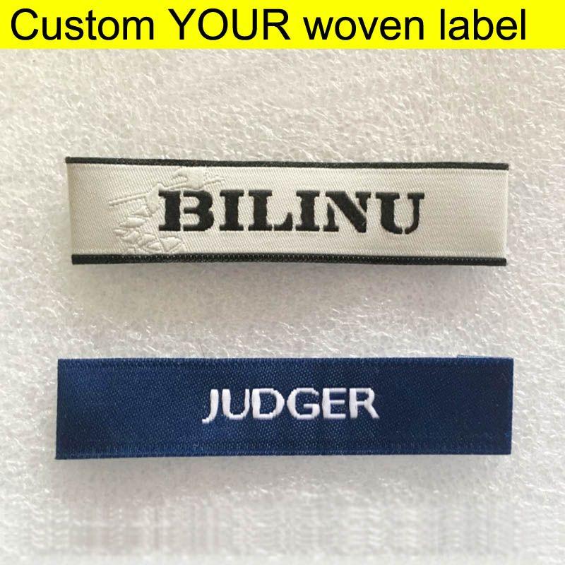 مصنع بالجملة مخصص ملابسك الملابس تسميات علامات تسميات / الملابس التطريز الرئيسية المنسوجة على حقيبة / الملابس / الأحذية الخياطة تسميات