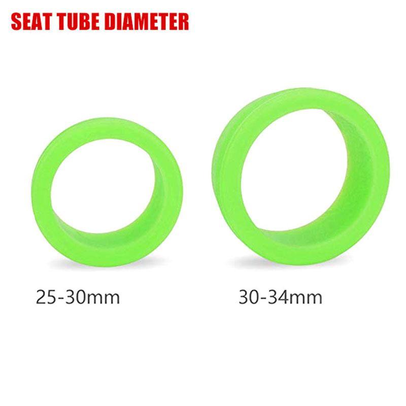Blue Silicone Dustproof Waterproof Bicycle Bike Seatpost Ring Circle 30-35mm