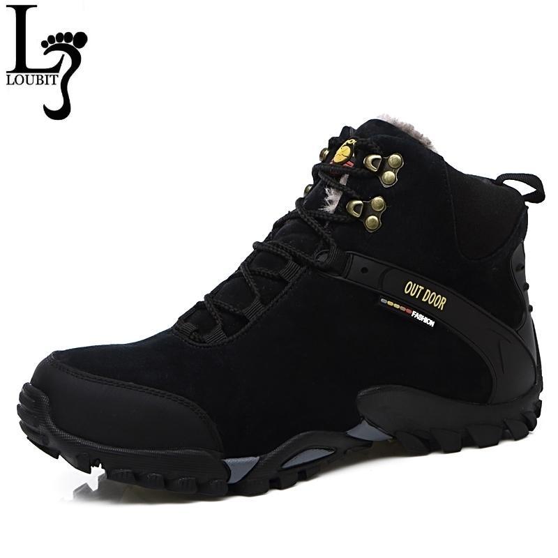 Men Shoes 2017 Winter Leather Boots Fur Inside Breathable Men Snow Boots Fashion Brand Men Winter Shoes zapatos hombre