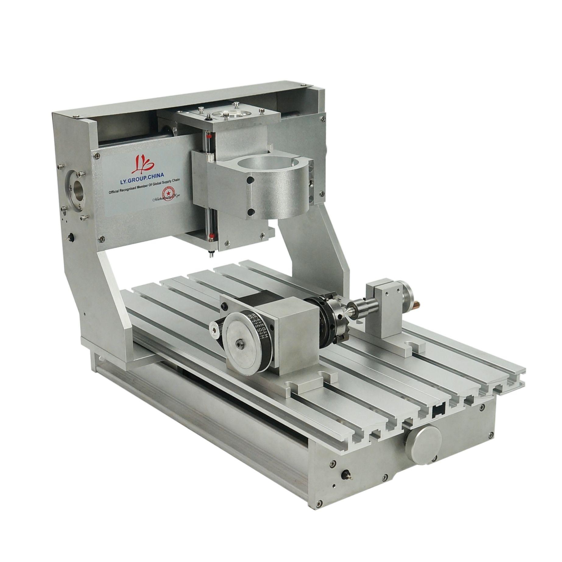 CNC 3020 Çerçeve DIY CNC Oyma Makinesi için Ağaç İşleme 3AXIS 4AXIS Seçeneği Step Motorlar ve Bilyalı Vida