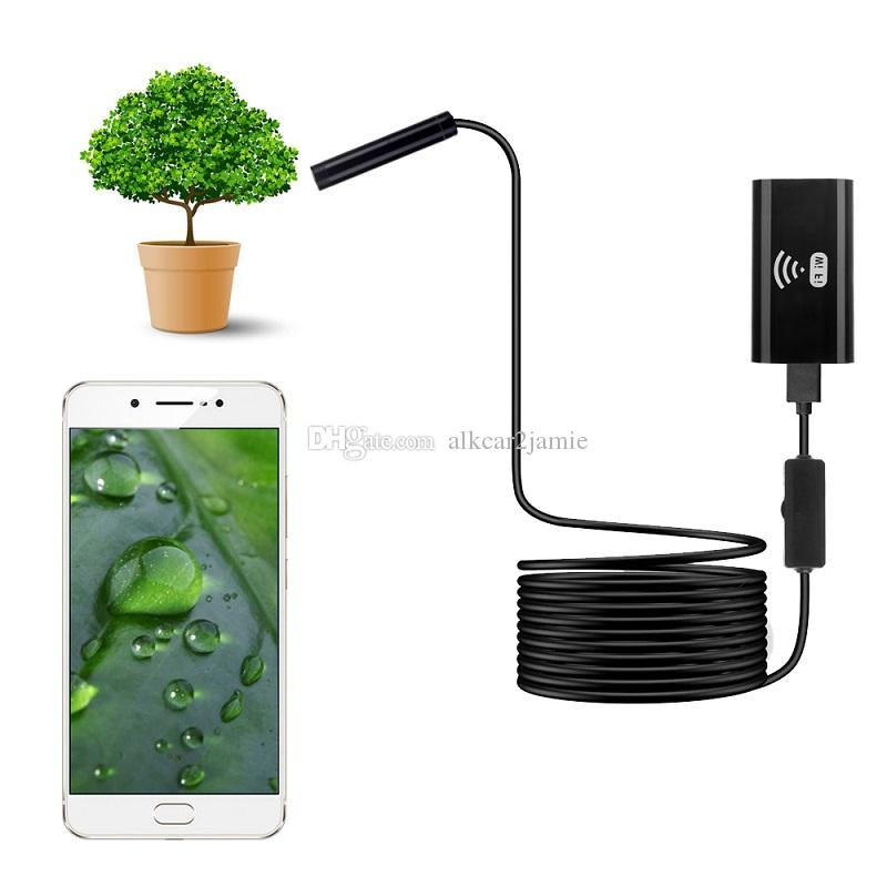 ALK 1 pc WIFI Câmera Endoscópio 8mm Lente Mini Câmera de Inspeção de Inspeção À Prova D 'Água À Prova D' Água Sem Fio para Smart Phones PC