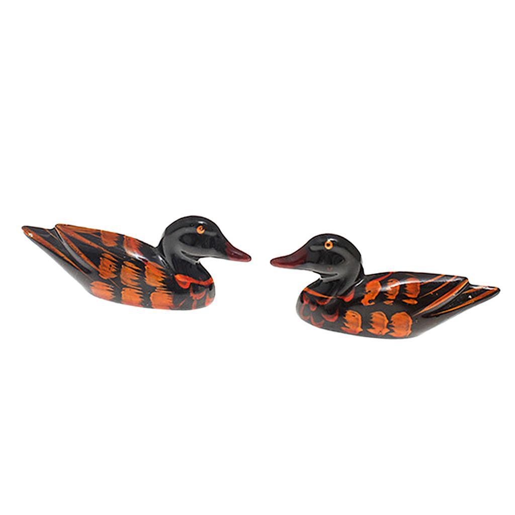 2 Tipi Natural Wooden Duck bacchette basamento del supporto di figura di foglio della bacchette Resto Rack 1 coppia