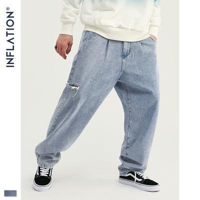 Mens Designer Pants Tide Marca Hip Hop Wash água Handmade Buraco Hetero soltas Jeans Mens Juventude Luxo calças soltas de alta qualidade