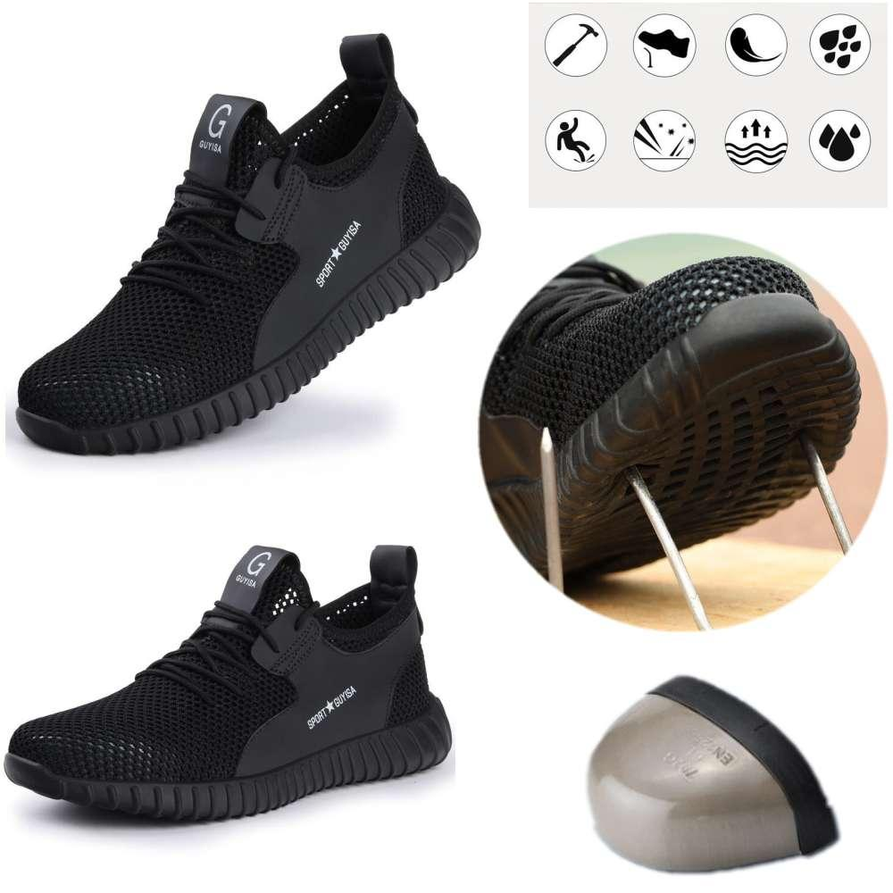 Mesh Men/'s Safety Sneakers Work Shoes Steel Toe Cap Composite Hiking Walk Boots