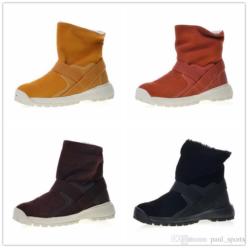Golkana Venda Wmns Hot Boot Adicionar Lã Quente Confortável Casual Esporte Neve Mulheres Botas para Alta qualidade Preta Preto marrom Tênis tamanho 36-39