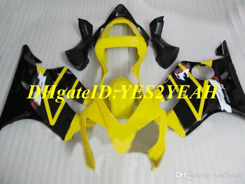 Kit de molde de injeção para Honda CBR600F4I 01 02 03 CBR600 F4I 2001 2002 2003 ABS Amarelo preto Carenagens + Presentes HY67