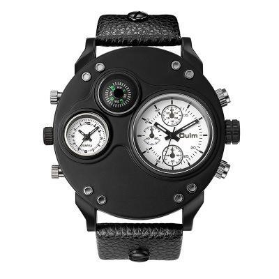 Eurium marque Oulm zone boussole temps plusieurs nouvelle montre de la ceinture de sport des hommes pour une utilisation exclusive transfrontalière de hp3741