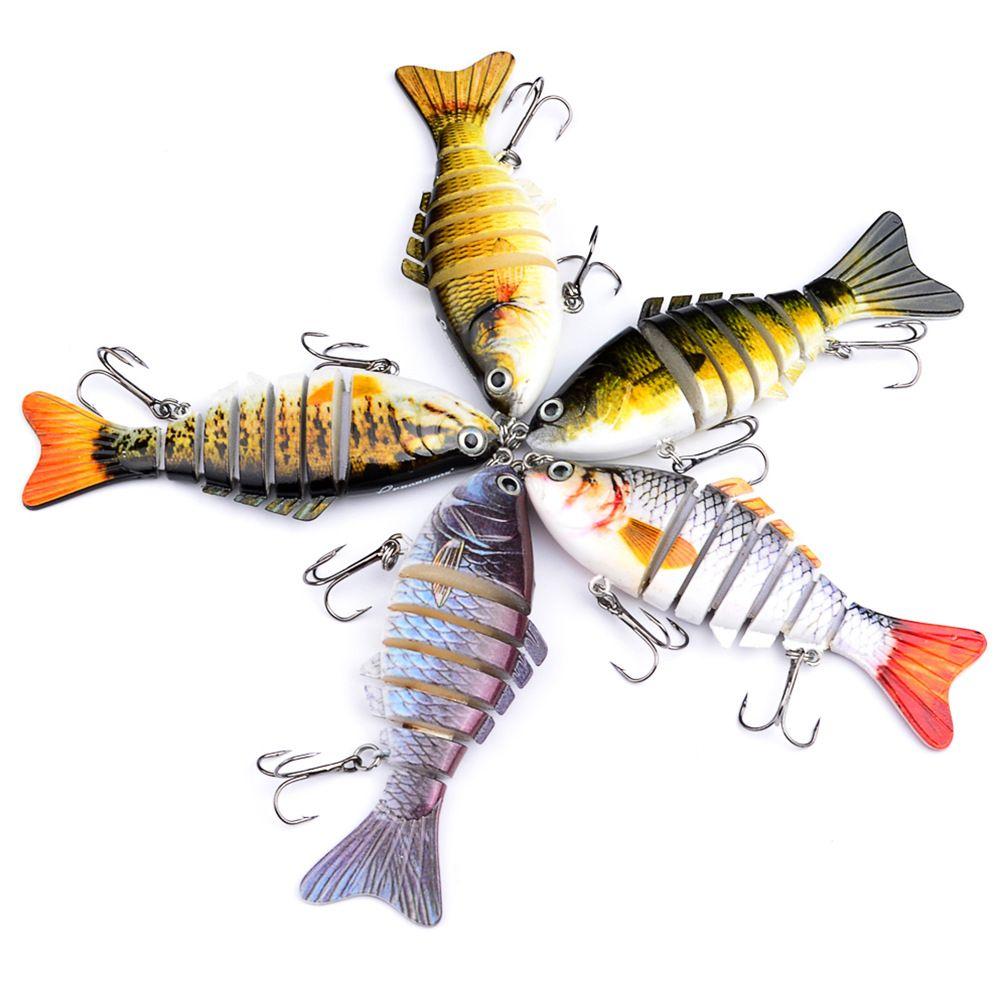 10cm 15.5g Pêche Leurres multi Articulé Swimbait Basse Crankbait Pour Wobblers Pike appâts artificiels doré jaune