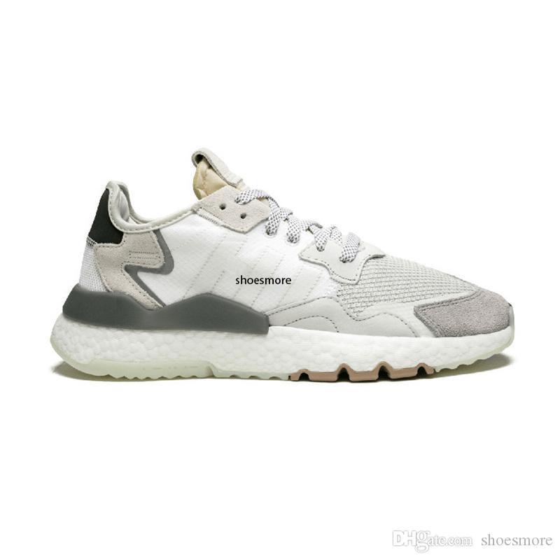 noche de la moda del basculador reflectante 3M zapatillas de correr para mujeres de los hombres de calidad superior triples negros blancos respirables las zapatillas de deporte entrenador 36-45