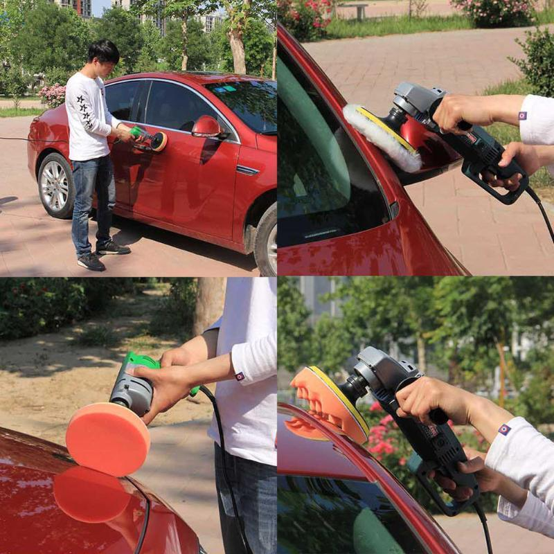 Wy -3012 -3 /4 /5 /6 /7 Inch 12pcs /Set Universal Car Polishing Pad Set M14 Cleaning Polish Sponge Wheel Set Car Styling Tools