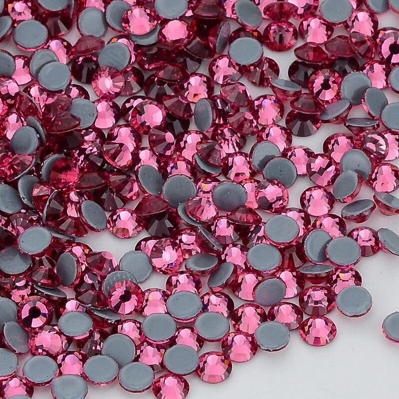Rose Flatback Glas Hot Fix Strasssteine Hot-fix Kristallsteine Für Kleidung C19021601