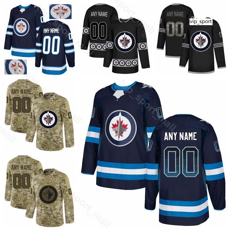 Hombre Juventud Mujer Hockey Blake Wheeler Jersey Winnipeg Jets Patrik Laine Kyle Connor Jacob Trouba Nikolaj Ehlers Gradient Diamond