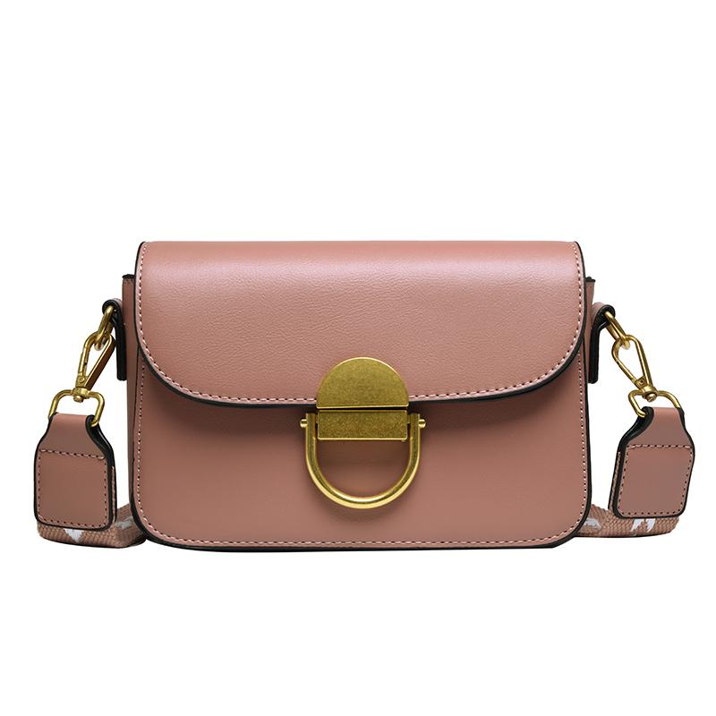 Vintage Ladies Bag Pink Korean Pu New Small Handbags 2021 Women Messenger Handbag Shoulder Kmdjw
