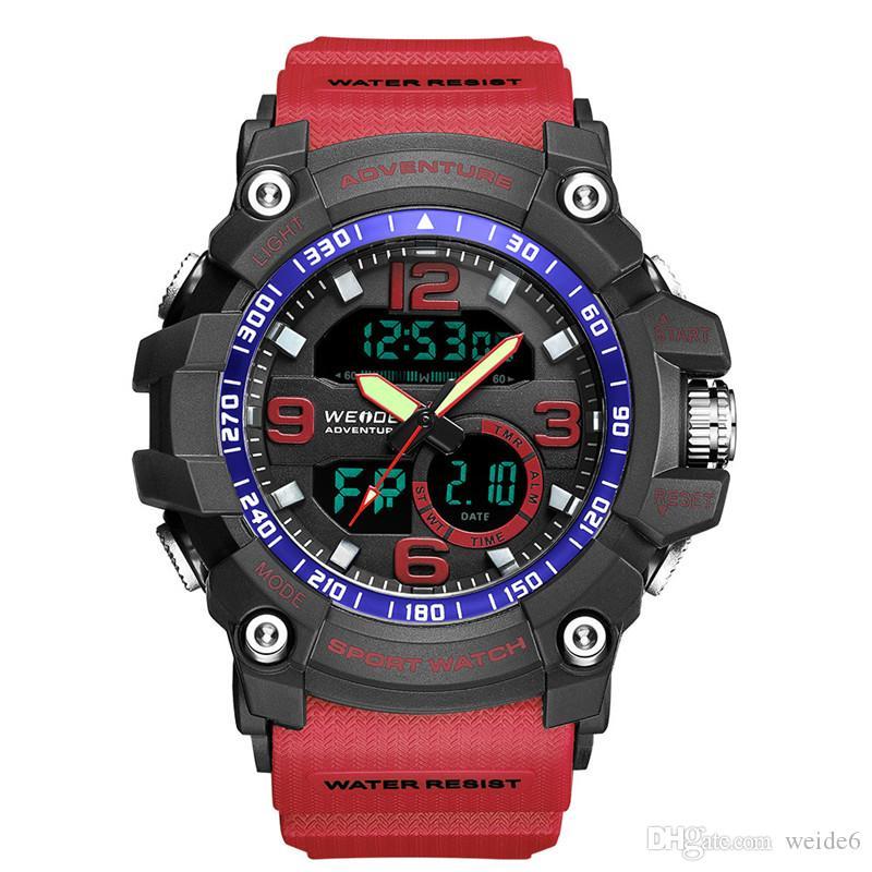 Weide usine prix de gros LCD étanche marque personnalisée multi-fonctionnelle montre numérique sport poignet hommes montre