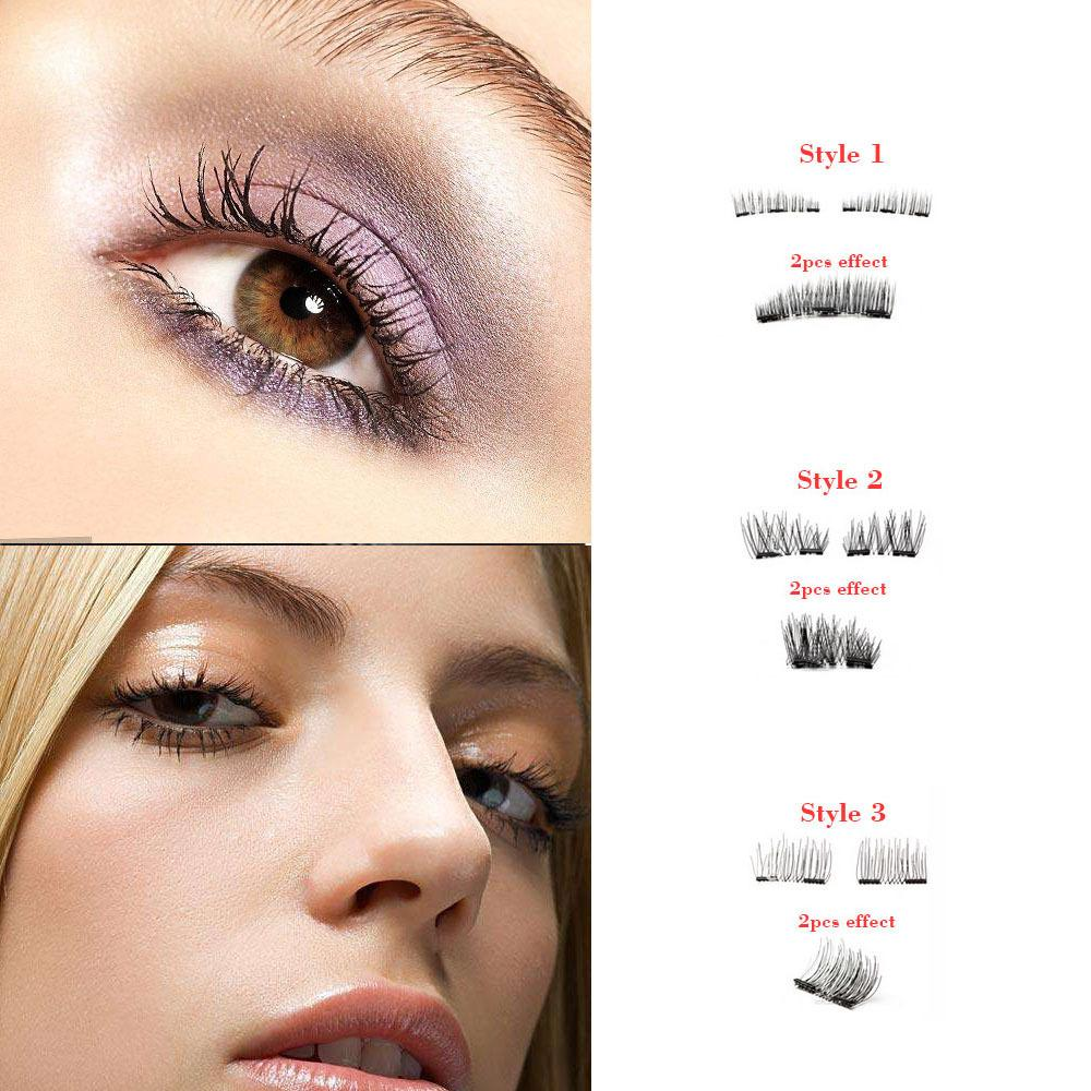 3d Makeup Magnetic Eyelashes Magnet False Lashes Triple Magnet Eye Lashes Ultra Thin Reusable Make Up False Eyelashes