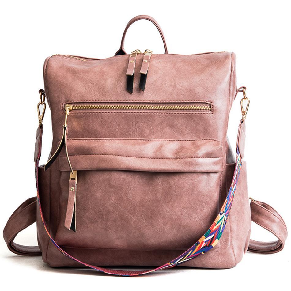 Sırt Çantaları Omuz Kemer Çanta Okul Bookbag Crossbody Renkli Çanta İşlevli Çanta Sırt Çantası Kadınlar Ayrılabilir PU Su Geçirmez Ljja3 DDDC