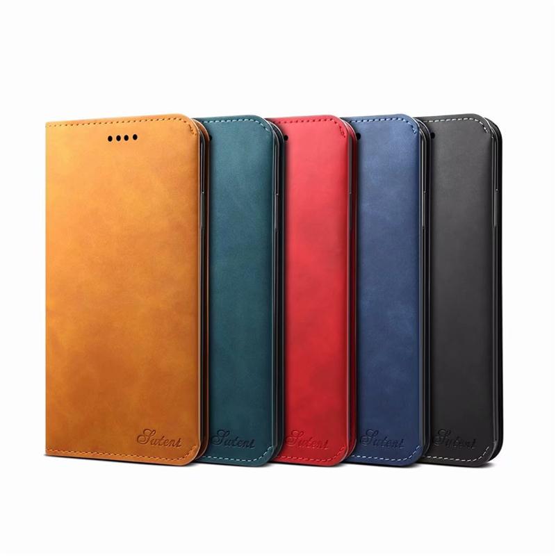 جديد اي فون 12 12PRO 12PROMAX 12MINI بو الجلود نمط بسيط محفظة حالة قابلة للطي مع حامل البطاقة لآيفون 11 7 × غطاء متعدد الوظائف