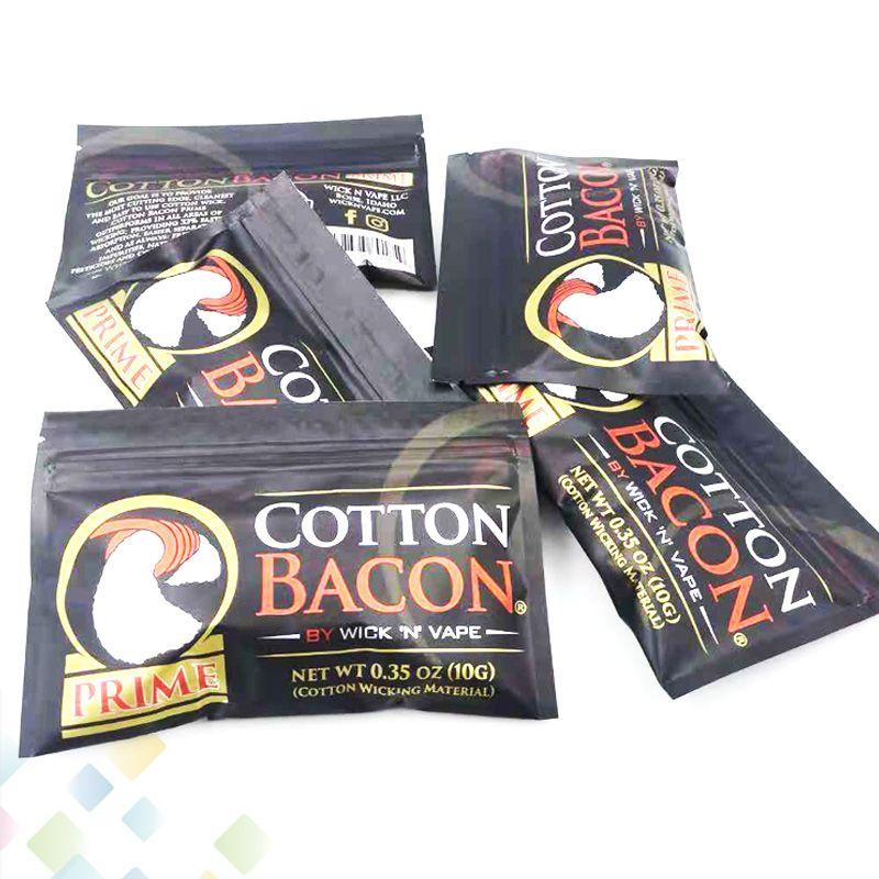 ALGODÓN BACON 2.0 Prime Gold Version Made in China Pure Cotton Cotton Wick n Vape Fiber para DIY RDA RTA atomizadores DHL