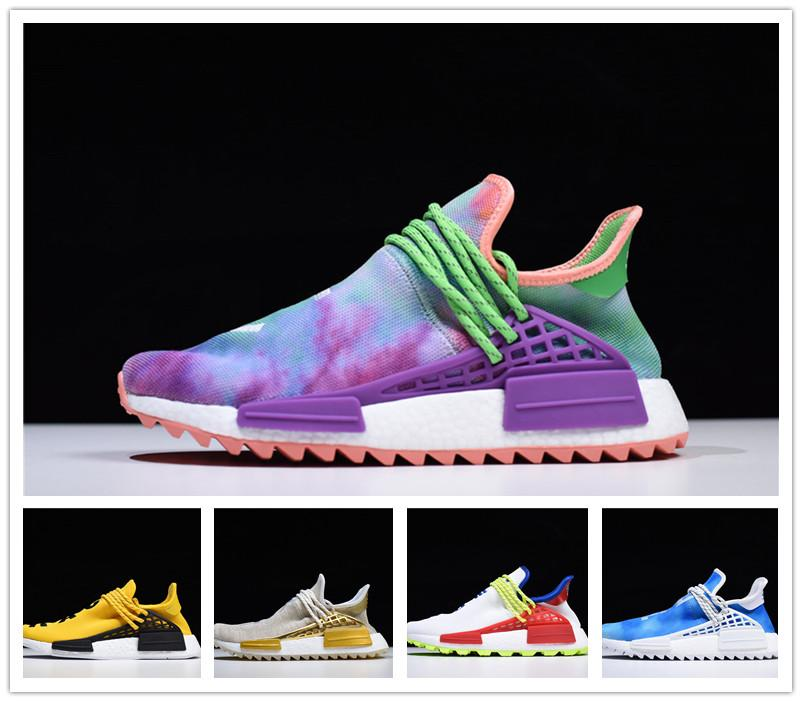 """NMD new cheap wholesale """"human race"""" Farrell Williams men and women cheap fashion black and white casual shoes 36-45"""
