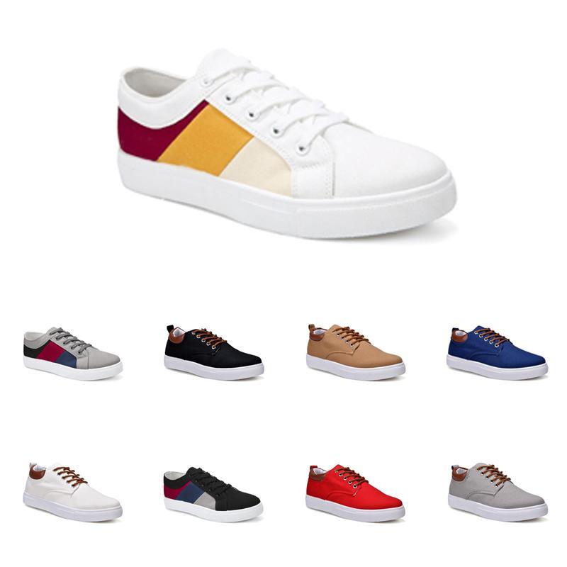 дешевые Мужская обувь No-Brand Canvas спорта вскользь тапки Белый Черный Красный Серый Хаки Голубой Мода обувь Размер 40-45 New Style # 47