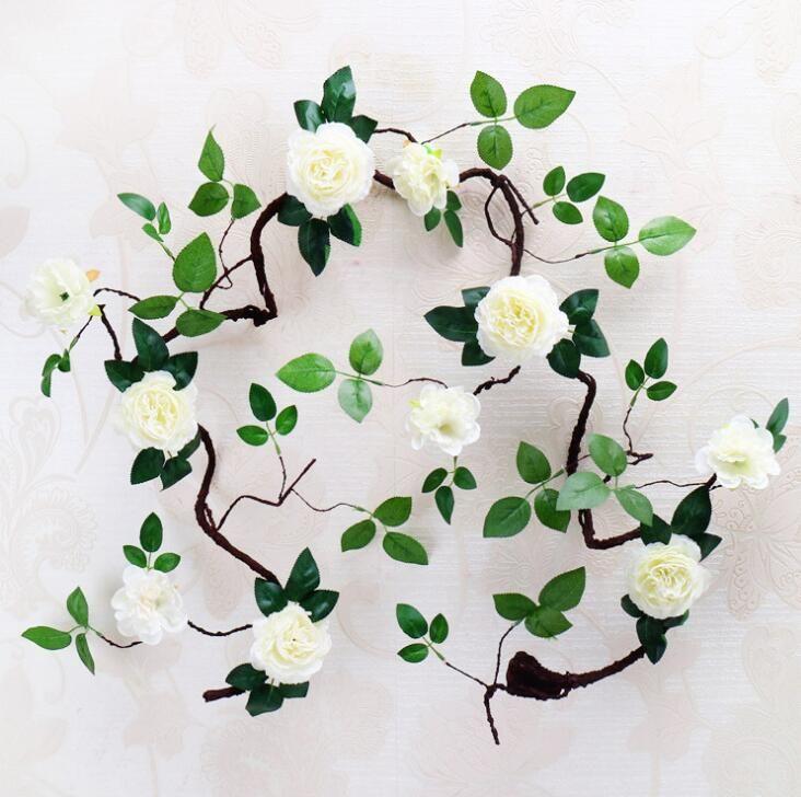 New Style 1.8m Artifical Peony Flower Vine For Wedding Decorations Artificial flowers foam peony vine silk peony rattan